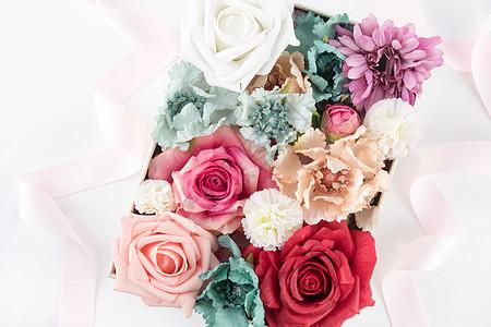 花盒花艺背景素材图片