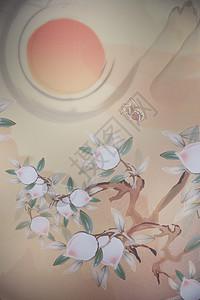 中国新年春节背景年画图片