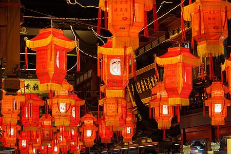 中国新年春节灯会夜景图片