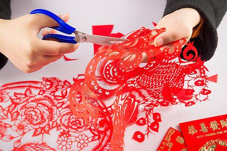 剪纸窗花传统文化图片