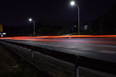 车流光影高速路图片