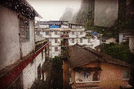 桂林 阳朔 小山城 漓江 下雨 旅游 度假图片