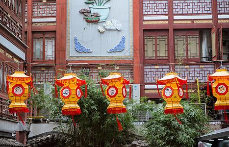 上海豫园民俗灯笼喜庆过年图片