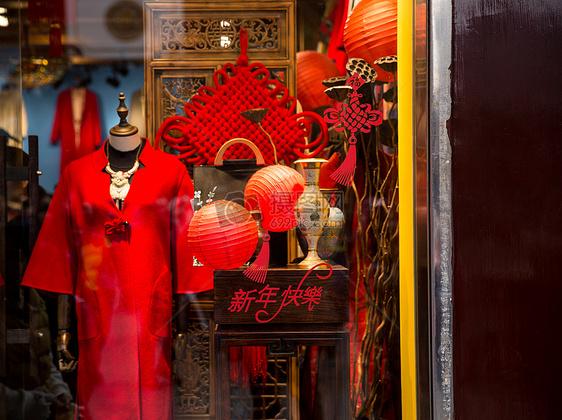 豫园店铺春节门面装扮图片