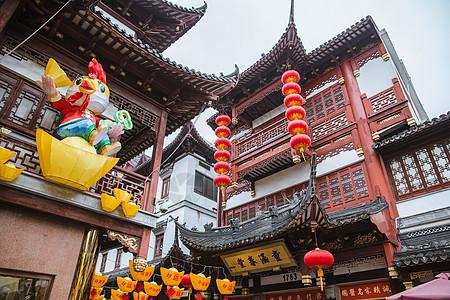 春节豫园建筑外立面装饰图片