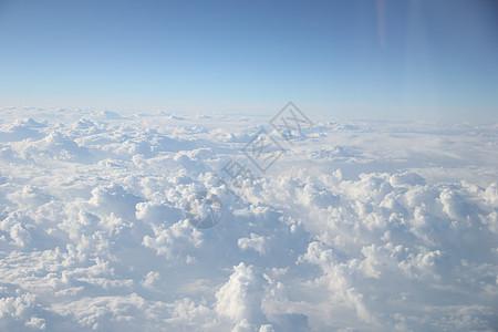 高空 云层 波浪 白云图片