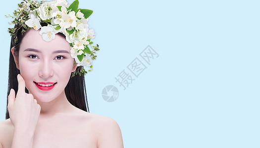 商业人像美容护肤妆容广告图片
