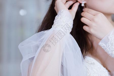 美丽女人婚纱袖套设计图片