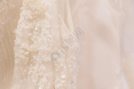 简单干净定制婚纱细节背景图片