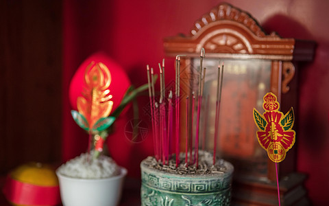 中国农历春节除夕祭祀祭拜祖先图片
