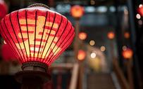 中国农历春节意象福字灯笼喜庆图片