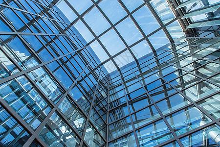 大气城市建筑内部构造线条图片