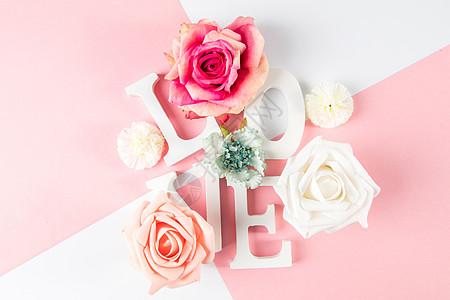 情人节粉色浪漫背景图片