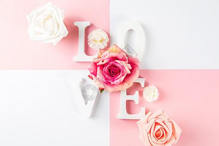 520七夕情人节粉色浪漫背景图片