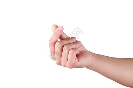 情人节恋爱手指白色背景合成素材图片