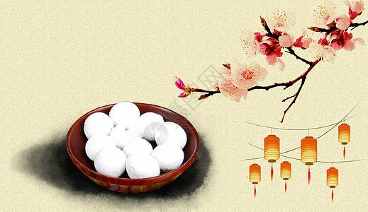 中国风元宵节梅花图片