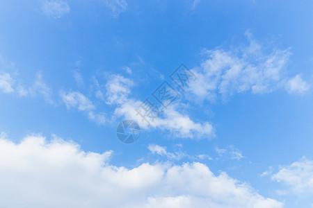 清新蓝天白云留白素材高清图片