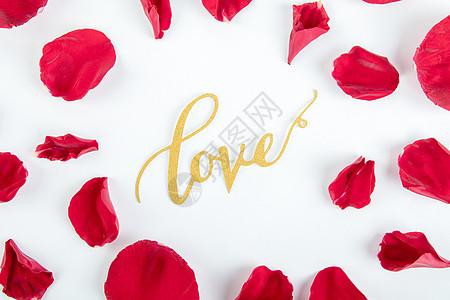 520玫瑰花瓣背景图片