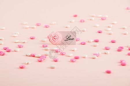 粉色甜蜜新婚背景图片