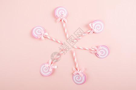 粉色棒棒糖图片