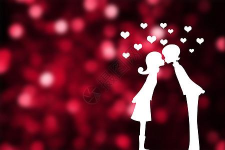 亲吻的情侣图片