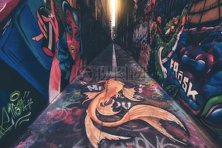 澳大利亚墨尔本涂鸦巷图片