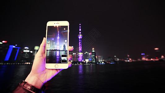 魔都上海外滩的夜景图片