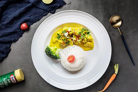 咖喱海鲜饭图片