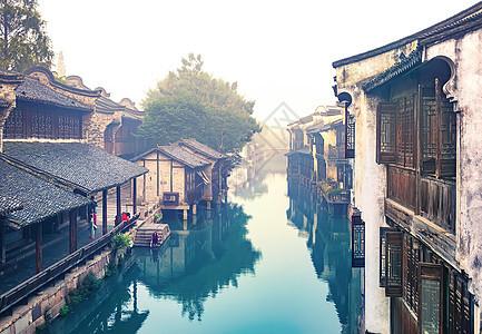 清晨的江南水乡乌镇图片