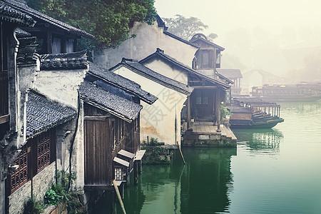 清晨江南水乡乌镇图片