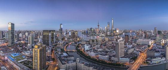俯瞰上海外滩全景图片