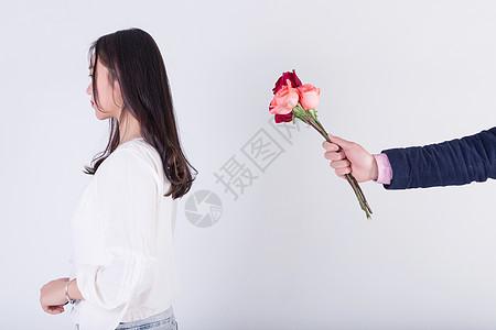 520爱情情侣送花底图图片