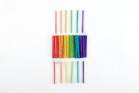 彩色木头渐变素材图片