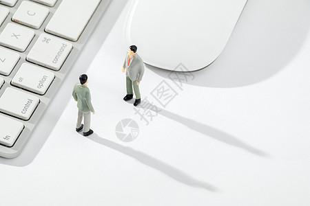 谈判中的商务卡通形象图片