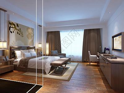 主卧室效果图图片