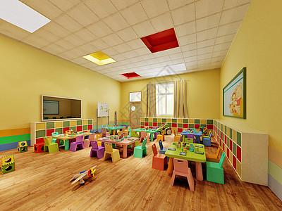 幼儿园活动室效果图图片
