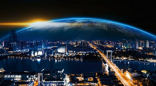 通往地球的城市桥梁图片