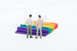 彩色纹理和商务人士图片