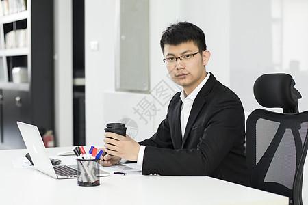 办公室商务喝咖啡放松图片