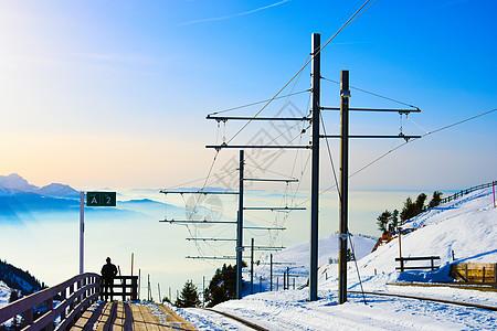美丽的阿尔卑斯山顶图片
