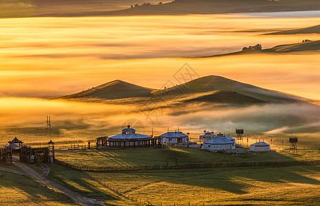 草原上的蒙古包图片