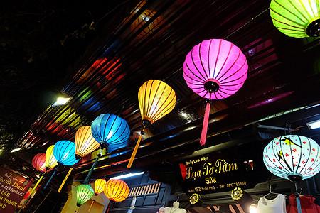 越南会安夜景灯笼图片
