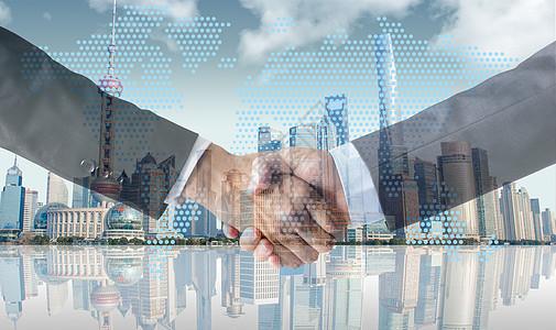 商业合作与握手图片
