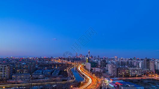 北京城爬楼俯瞰图片