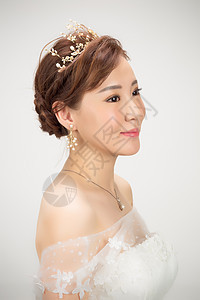 新娘装面半身人像图片