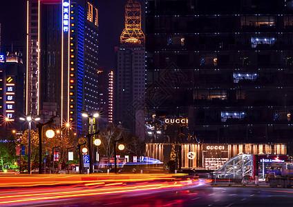 繁华的西安永宁门商圈夜景图片
