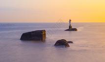 夕阳的余晖图片