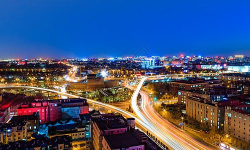 德胜门城市夜景图片