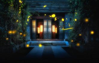 飘动的萤火虫图片