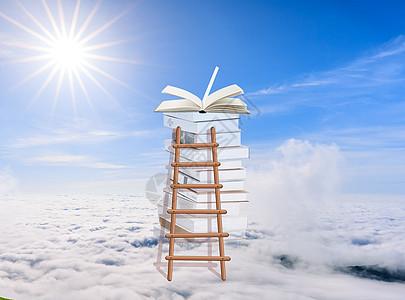 阶梯爬上教育的云端图片